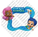 8'' Round ~ Bubble Guppies Photo Frame Birthday ~ Edible Image Cake/Cupcake Topper!!!