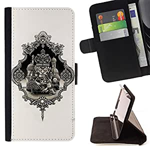 For Samsung Galaxy S6 active/G870A/G890A (Not Fit S6) Veni Vidi Vici Angel Style PU Leather Case Wallet Flip Stand Flap Closure Cover