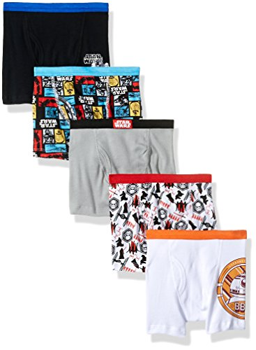 (Disney Big Boys' Star Wars Episode 7 5 Pack Boxer Brief, Episode 7 Assorted Prints, 4)