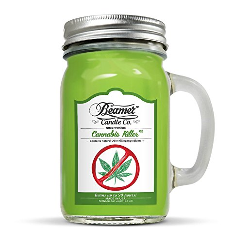 Beamer 12oz Cannabis Killer Scented Candle Co. Ultra Premium Jar Candle. 90 Hr Burn Time. USA Made (Weed Candle Wax)