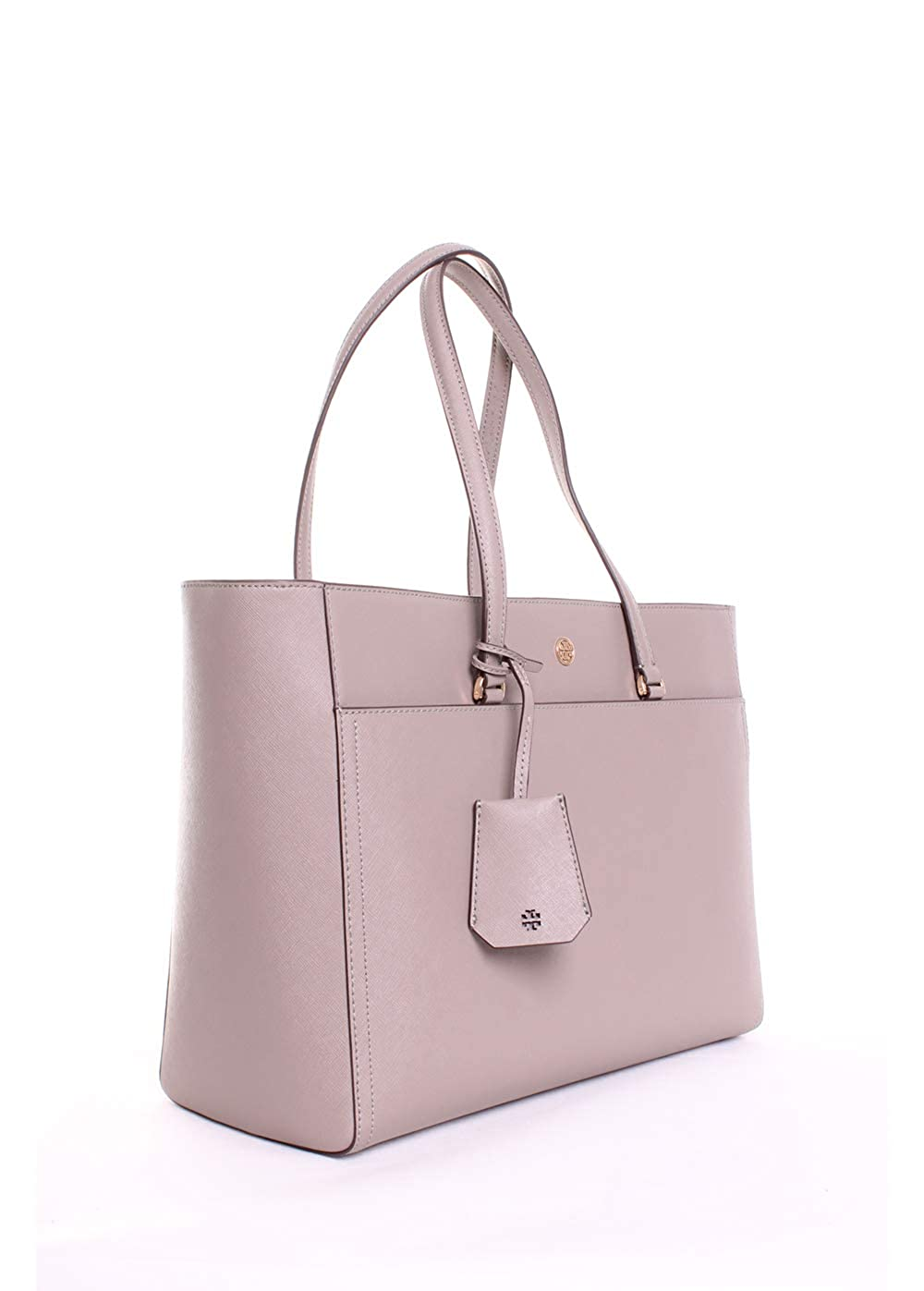 1d2cf4b3030 Amazon.com  Tory Burch Robinson Leather Tote in Gray Heron  Clothing