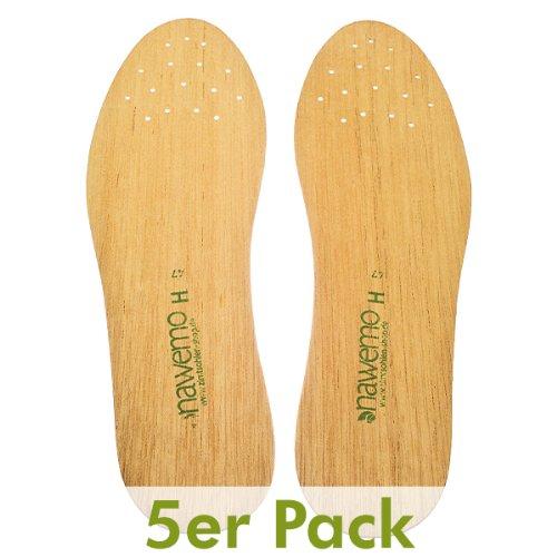 Zedernholzsohlen Nawemo für Herren (5er Pack), Größe 39