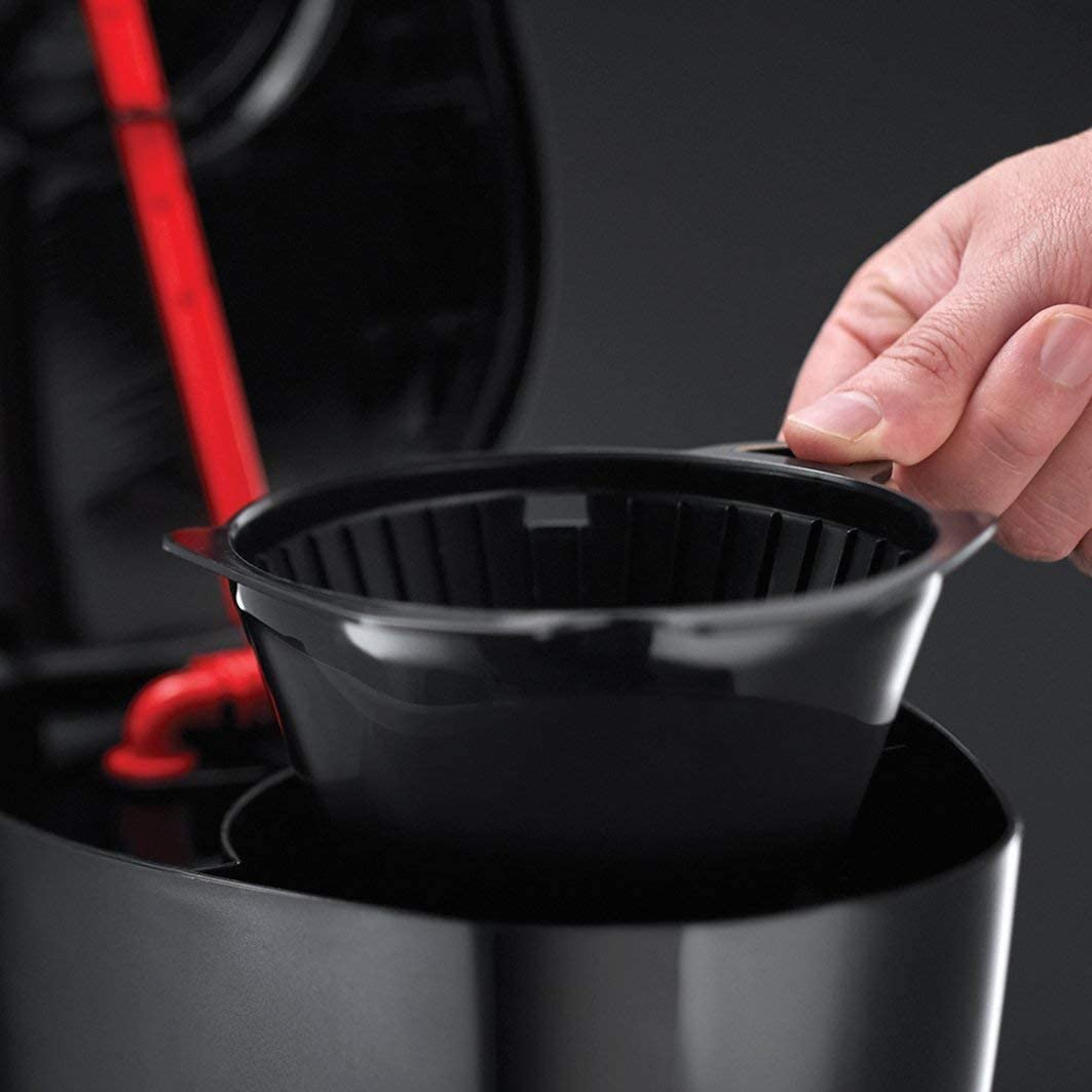 Apagado autom/ático NOBRAND Cafetera Digital 975W Placa calefactora Temporizador programable Goteo hasta 10 Tazas cafetera de Filtro 22620-56 Jarra de Vidrio de 1.25 l
