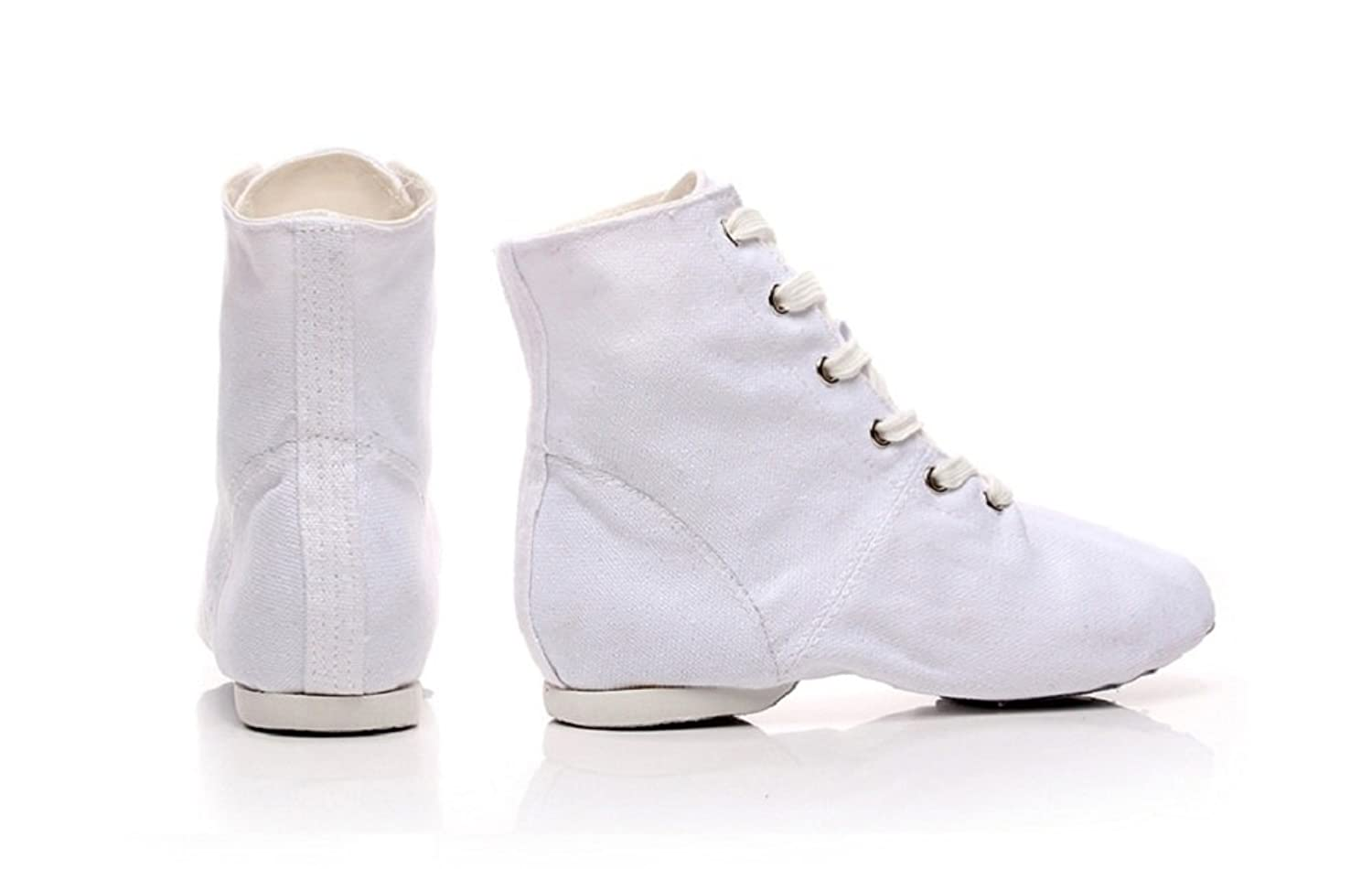 Vintage Boots, Granny Boots, Retro Boots NLeahershoe Lace-up Canvas Dance Shoes Flat Jazz Boots for Practice Suitable for Both Men and Women $14.99 AT vintagedancer.com
