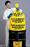 30 gal. Yellow Hazardous Waste Bags, Contractor Strength Rating, Flat Pack, 24 PK