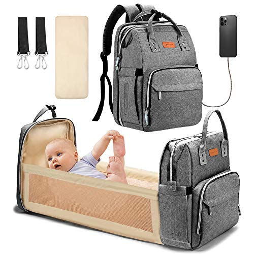 Baby Changing Backpack Multifunctional Diaper Bag Nappy Changing Bag Durable and Large Capacity Camouflaged by YOOFOSS