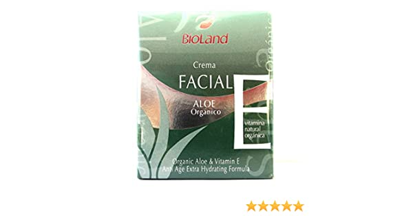 Amazon.com : Organic Aloe & Vitamin E Anti Age Extra Hydrating Facial Formula 2.5 fl.oz | Crema Facial Anti-Edad de Sabila y Vitamina E, Extra Hidratante 75 ...