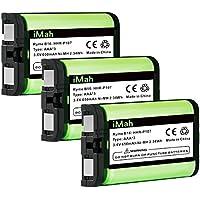 3-Pack iMah Ryme B16 HHR-P107 Cordless Phone Battery for Panasonic KX-TG6071 KX-TG6074 KX-TGA351 KX-TGA600 HHR-P107A/1B Handset Telephone (Type 35)