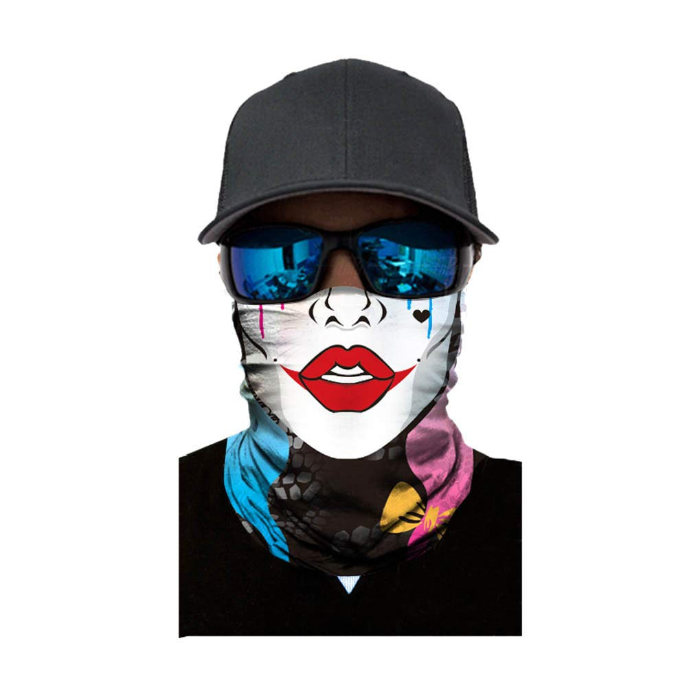 Unisex Balaclava Versatile Sports Headwear Windproof Face Mask Headwrap for Cycling Camping Running One Size)