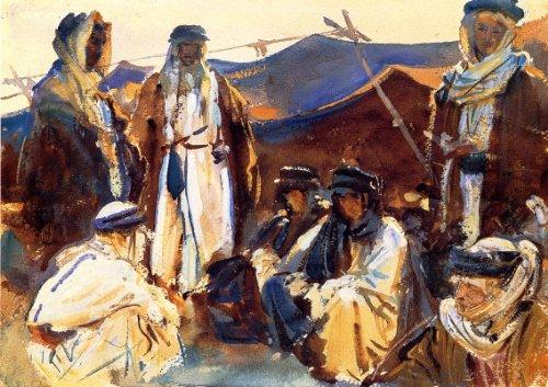 Artisoo Bedouin Camp油彩画Reproduction–送料サイズ: 30x 21インチ–John Singer Sargentの商品画像