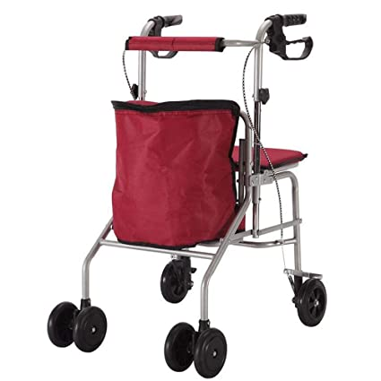 Hyrl Carrello Per Anziani Pieghevole Con Seduta Multifunzionale