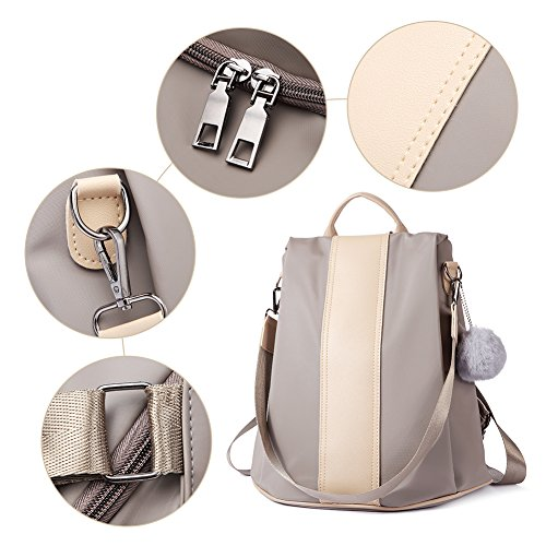 Women School khaki Shoulder Fashion Purse Designer 2 Lightweight Backpack Travel Bag Ladies Covertible Nylon AAwrzqZ