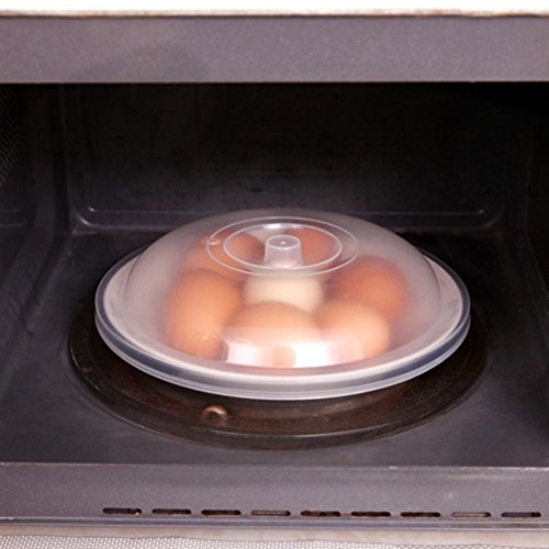 YJYdada Microwave Food Cover Plate Vented Splatter Protector Clear Kitchen Lid Safe Vent (A)