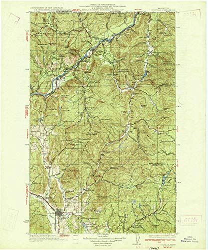 YellowMaps Colville WA topo map, 1:125000 Scale, 30 X 30 Minute, Historical, 1933, 19.9 x 16.6 in - Paper (Outdoor Pend)