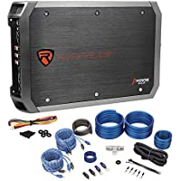 Package: Rockville RXA-F1 1600 Watt Peak / 800 Watt RMS 4 Channel Bridgeable Car Amplifier + Rockville RWK42 4 Gauge 4 Channel Complete Wire Kit With (2) RCA Cables