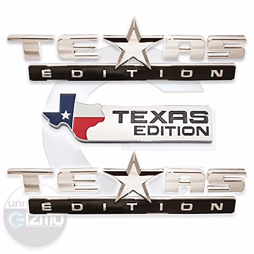 Complete Texas Edition Truck Badge Kit in Chrome - Chevy Ford (Cheap Truck Rims)