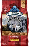 Blue Buffalo Wilderness Rocky Mountain Recipe High Protein Grain Free, Natural Adult Healthy Weight Dry Dog Food, Red Meat 4-Lb For Sale