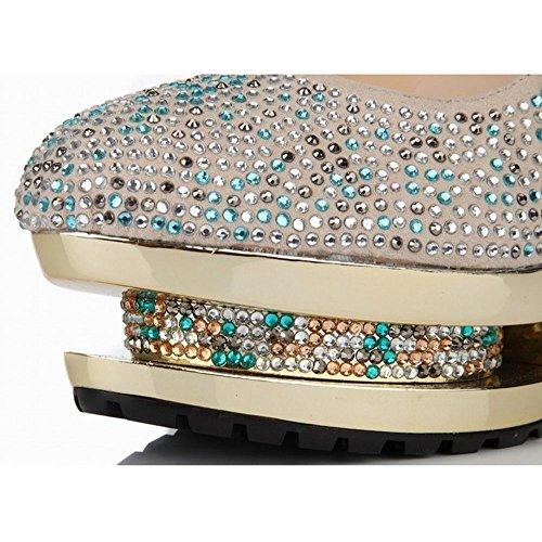 Cristallo Diamante Sandali Apricot Scarpa Notte Tallone Nuziale Di Donne Partito Del Delle Sottili Della Festa AzwZzqX5