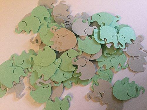 - Elephant Confetti, Elephant Baby Shower, Mint Green Gray Elephant Confetti, Elephant Die Cut, Elephant Cut Out, Elephant Birthday, Elephant Theme, 100 pieces