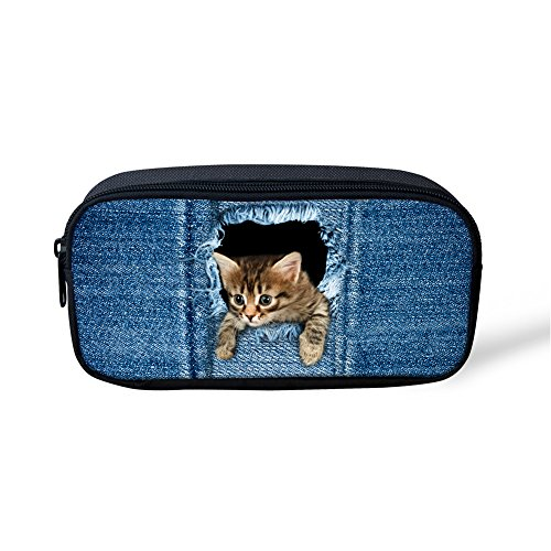 FOR U DESIGNS Fashion Pet Cat Print Casual Pencil Box Pouch for Teen Girls