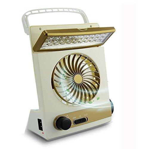 KASQA Solar Table Lamp Mini Fan 3 in 1 Multi-function Portable Eye-Care Desk Light Flashlight Solar Light For Adult Children Home Camping Solar Cooling Fans(Gold) by SUAYAN (Image #7)
