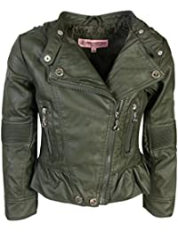 Toddler & Big Girls Faux Leather Motorcycle Moto Biker Jacket