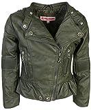 Urban Republic Toddler & Big Girls Faux Leather Motorcycle Moto Biker Jacket (7/8, Rose Metallic)'
