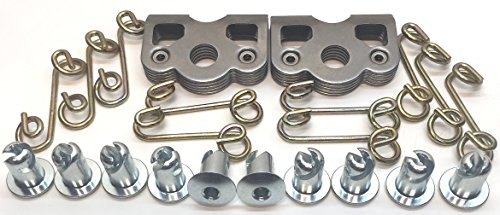 - 1/4 Turn Quick Release Steel Dzus Button with Springs and Tab Plates 10 Pack-Free Rivets!