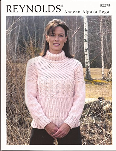 Alpaca Turtleneck Sweater - Turtleneck Guernsey Reynolds Knitting Pattern #82278
