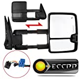 2000 chevy 1500 tow mirrors - ECCPP Towing Mirrors High perfromance Automotive Exterior Mirrors with Power Heated Turn Signal Replacement fit for 2003-2007 Silverado Sierra Chevrolet Chevy gmc 1500 2500 3500(07 New Body Style)