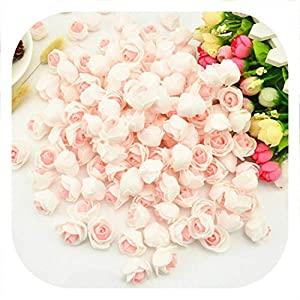 Memoirs- 20pcs Pink Rose Head Handmade Artificial Flower Wedding Decoration DIY Wreath Needlework Gift Box Scrapbooking Fake Flower 116