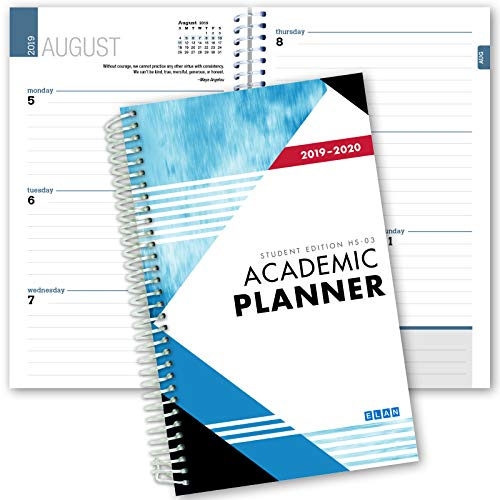 Dated Student Planner for High School of College: Dated August - July Dated for 2019-2020 (HS-03-C1) ()
