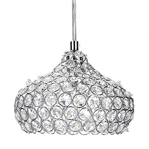 Light Cylindrical Pendant, Simplicity Crystal Ceiling chandelier lighting Light, For Living Room, Bedroom, Dining Room by ferty (Image #1)