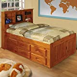 American Furniture Classics 2120-BCH Bookcase Bed, Twin