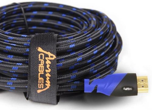 Aurum Ultra Series - High Speed HDMI Cable With Ethernet 20 Ft - Supports 3D & ARC [Latest Version] - 20 Feet (2560 Series)