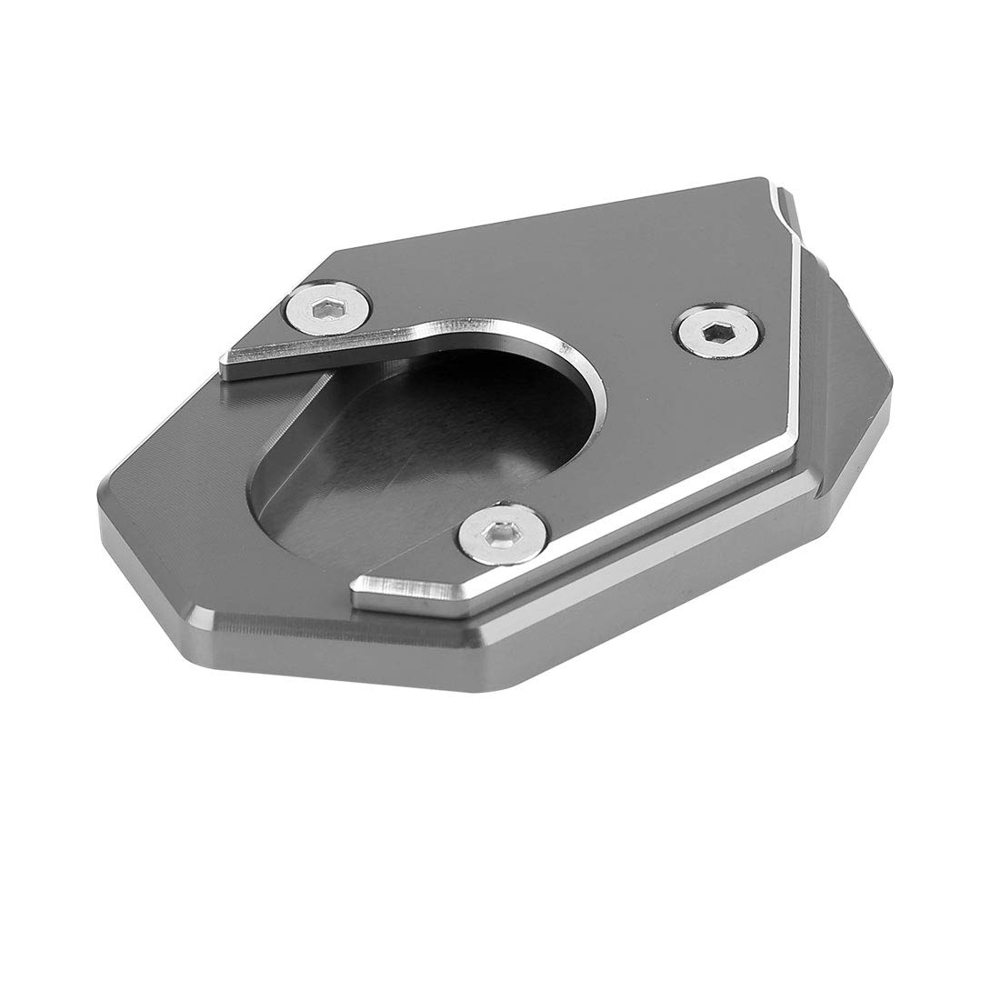 F FIERCE CYCLE Universal Black Aluminium Alloy Nonslip Kickstand Enlarger Pad