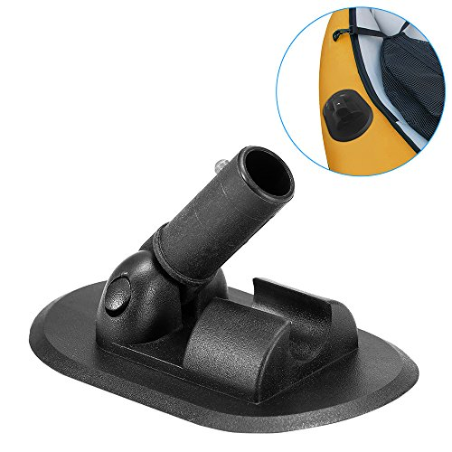 Lixada 180 Degree Rotation Kayak Canopy Mount Base for Inflatable Boat Canoe Awning Sun Shelter