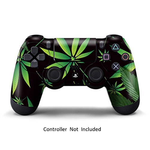 Skins for PS4 Controller - Stickers for Playstation 4 Games - Decals Cover for PS4 Slim Sony Play Station Four Controllers PS4 Pro Accessories PS4 Remote Wireless Dualshock 4 Skin - Weeds Black
