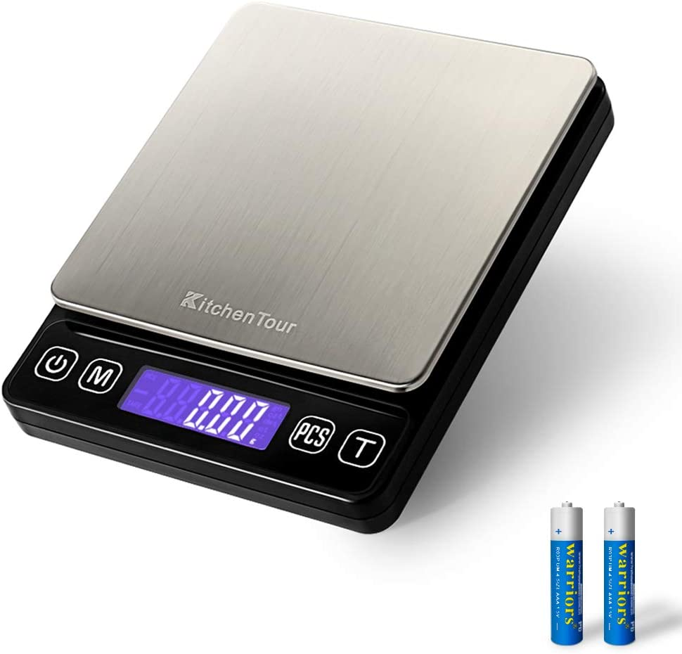 Amazon Com Kitchentour Digital Kitchen Scale 500g 0 01g High Accuracy Precision Multifunction Food Meat Scale Jewelry Lab Carat Powder Scale With Back Lit Lcd Display Batteries Included Industrial Scientific