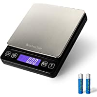 KitchenTour Digital Kitchen Scale - 500g/0.01g High Accuracy Precision Multifunction Food Meat Scale Jewelry Lab Carat…
