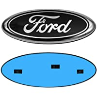 "9 Inch Front Grille Tailgate Emblem, Oval 9""X3.5"", Decal Badge Nameplate for 04-14 F150 F250 F350, 11-14 Edge, 11-16…"
