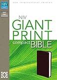 NIV, Giant Print Compact Bible, Imitation Leather, Burgundy
