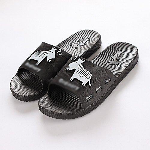 Plancher Sandales Intérieur 36 Pantoufles Slip Épais Pantoufles D'Été Traînant de Salle Confort Ré Bains Couples 37 Accueil de tFCawO