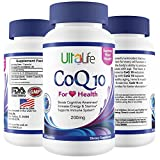 #1 Best CoQ 10 - Coenzyme Q10 the 'Miracle Supplement' Supports Every Cell in the Body. Heart + Energy + Stamina + Mental Focus + Aging. Ubiquinone is Essential to the Body. 1 Veggie Capsule Daily.