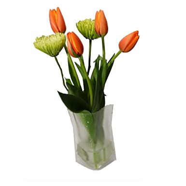 WonderVase Travel Collapsible Flower Vase - Med  sc 1 st  Amazon.com & WonderVase Travel Collapsible Flower Vase - Med: Amazon.com: Grocery ...
