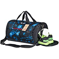 Kuston Sports Gym Bag with Shoes Compartment Travel...
