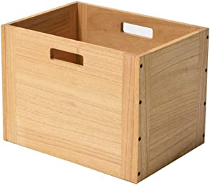 Kirigen Stackable Wood Storage Cube/Basket/Bins Organizer for Home Books Clothes Toy Modular Open Cubby Storage System - Office Cubical Bookcase Closet Shelves C26-NA