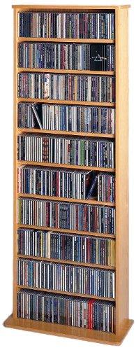 Charming Leslie Dame CDV 500 High Capacity Oak Veneer Multimedia Storage Rack, Oak