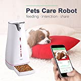 Hoison Smart Feeder for Dogs Cats, Auto Food Portion Control Pet Fountain, LCD Light Wifi Dispenser, Interactive with Android and iOS