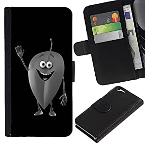EuroCase - Apple Iphone 6 4.7 - Friendly Leaf - Cuero PU Delgado caso cubierta Shell Armor Funda Case Cover